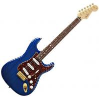 Fender Deluxe Players Strat® Rosewood Fretboard, Saphire Blue Transparent