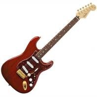 Fender Deluxe Players Strat® Rosewood Fretboard, Crimson Red Transparent