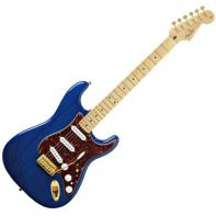 Fender Deluxe Players Strat® Maple Fretboard, Saphire Blue Transparent