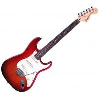 Squier by Fender Standard Stratocaster Rosewood Fretboard, Cherry Sunburst (Special Edition)