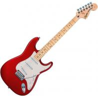 Squier by Fender Standard Stratocaster Maple Fretboard, Candy Apple Red