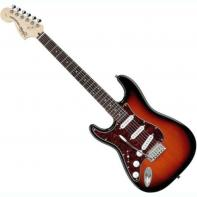 Squier by Fender Standard Stratocaster Left Handed, Rosewood Fretboard, Antique Burst