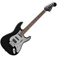 Squier by Fender Black and Chrome Standard Stratocaster HSS, Rosewood Fretboard, Black
