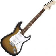 Squier by Fender Affinity Stratocaster Rosewood Fretboard, Brown Sunburst, Export
