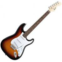 Squier by Fender Bullet Strat with Tremolo, Rosewood Fretboard, Brown Sunburst