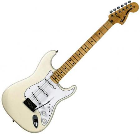 Classic Series 70s Stratocaster® Maple Fretboard, Olympic White (Fender Classic Series 70s Stratocaster® Maple Fretboard, Olympic White)