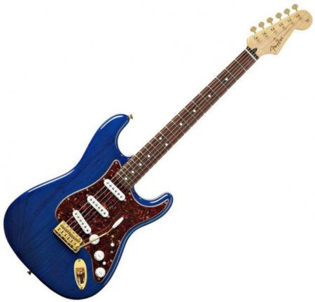 Deluxe Players Strat® Rosewood Fretboard, Saphire Blue Transparent (Fender Deluxe Players Strat® Rosewood Fretboard, Saphire Blue Transparent)