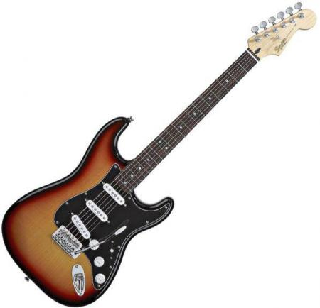 Vintage Modified Strat Rosewood Fretboard, 3-Color Sunburst (Squier by Fender Vintage Modified Strat Rosewood Fretboard, 3-Color Sunburst)
