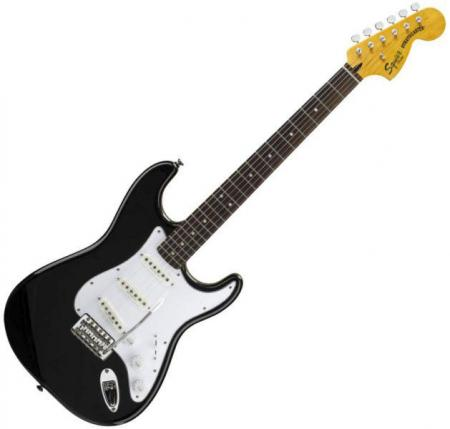 Vintage Modified Strat Rosewood Fretboard, Black (Squier by Fender Vintage Modified Strat Rosewood Fretboard, Black)