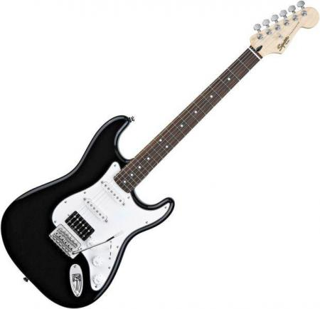 Vintage Modified Strat HSS, Rosewood Fretboard, Black (Squier by Fender Vintage Modified Strat HSS, Rosewood Fretboard, Black)