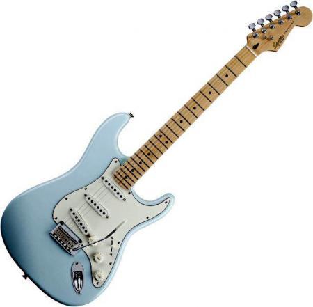 Deluxe Stratocaster Maple Fretboard, Daphne Blue (Squier by Fender Deluxe Stratocaster Maple Fretboard, Daphne Blue)
