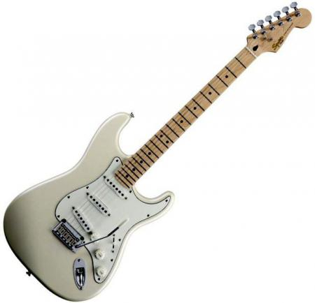 Deluxe Stratocaster Maple Fretboard, Pearl White Metallic (Squier by Fender Deluxe Stratocaster Maple Fretboard, Pearl White Metallic)