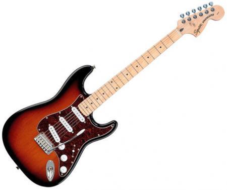 Standard Stratocaster Maple Fretboard, Antique Burst (Squier by Fender Standard Stratocaster Maple Fretboard, Antique Burst)