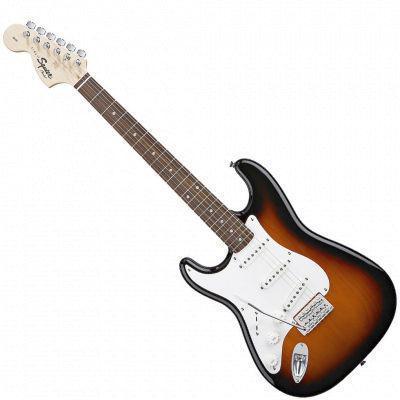Affinity Stratocaster Left Handed, Rosewood Fretboard, Brown Sunburst  (Squier by Fender Affinity Stratocaster Left Handed, Rosewood Fretboard, Brown Sunburst )