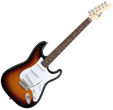 Bullet Strat with Tremolo, Rosewood Fretboard, Brown Sunburst (Squier by Fender Bullet Strat with Tremolo, Rosewood Fretboard, Brown Sunburst)