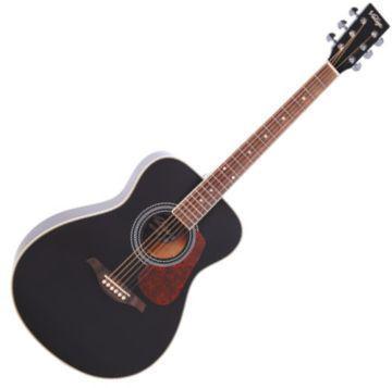 V300BK Folk gitár Black (Vintage V300BK Folk gitár Black)